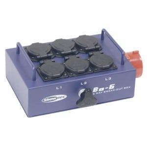 Breakoutbox CEE16A > 3 groepen 230V (WCD)