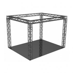 Kooiconstructie Carre 8 x 8 x 4 meter