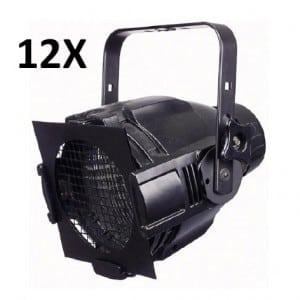 Lichtset 12 stuks MultiPar 600W