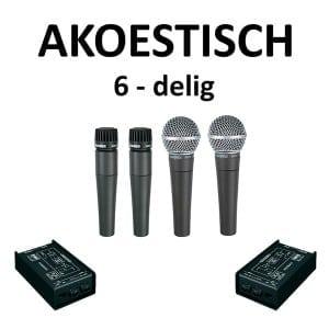 Microfoonset Akoestisch 6 delig