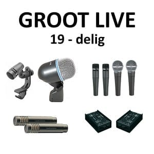 Microfoonset groot PA Live  19  delig