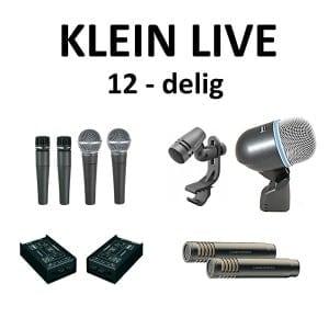 Microfoonset klein Live  12  delig