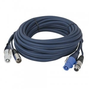 Powercon/XLR M - Powercon/XLR F 6 mtr