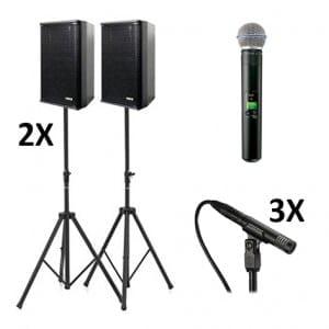 Toneel audioset  300 personen
